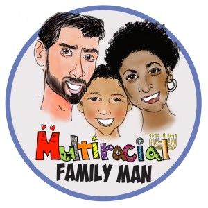 Multiracial Family Man logo