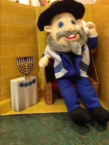 "The Hanukkah ""Mensch on a Bench"""